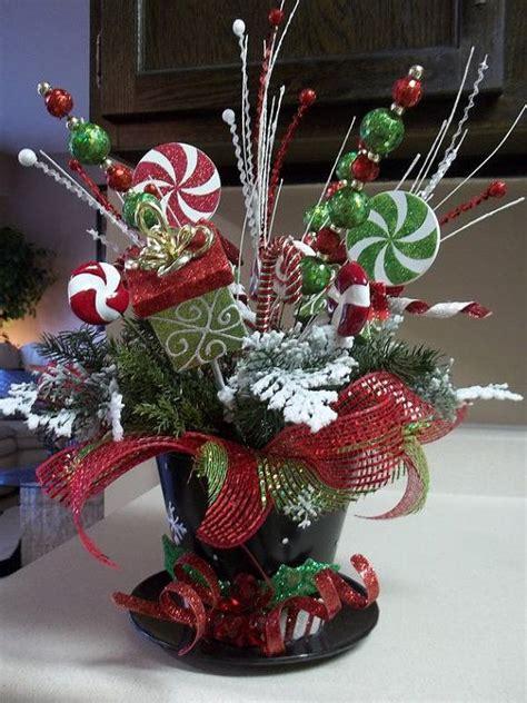 top hat festive holiday tabletop arrangement christmas