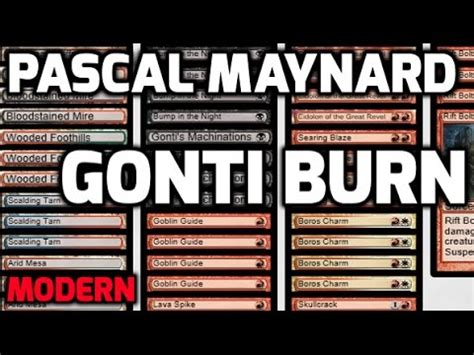 Modern Burn Deck 2017 by Channel Pmayne Modern Gonti Burn Deck Tech Match 1