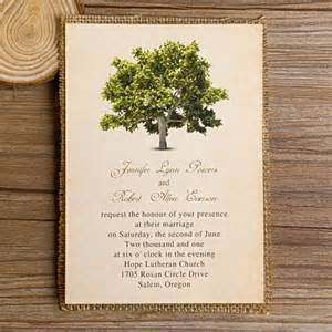 ideas for bridal shower favors green tree burlap layered wedding invitations