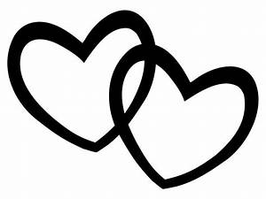 Heart black and white two heart black and white clipart ...