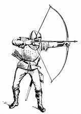 Archer Coloring Medieval Pages Knight Sheets Drawings Fantasy Archery Drawing Edupics sketch template