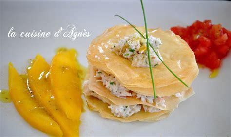 croustillant de crabe aux épices la cuisine d 39 agnèsla