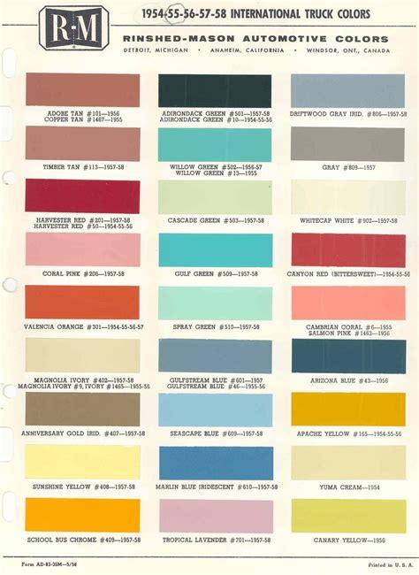 color charts color charts colour truck paint paint