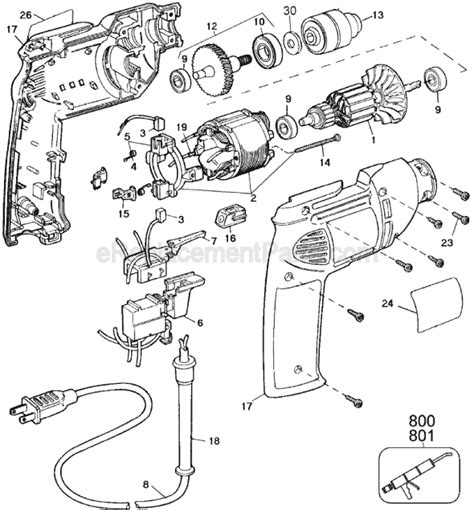 Speed Variable Trigger Drill Switch Wiring Diagram by Dewalt Dw106 Parts List And Diagram Type 1