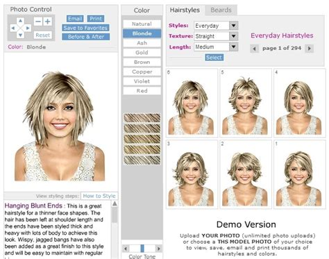 virtual hairstyles upload your own photo and it s free