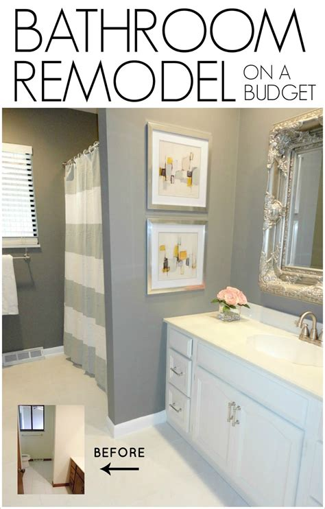 bathroom tile ideas on a budget livelovediy diy bathroom remodel on a budget