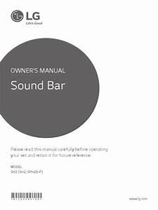Lg Sh2 Soundbar Manual