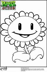 Zombies Plants Coloring Vs Pages Flower sketch template