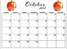 2018 October Calendar For Kids – Printable Calendar
