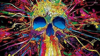 Artistic Wallpapers Skull Cool Colorful