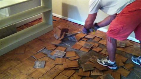 how to do flooring how to remove parquet hardwood flooring youtube