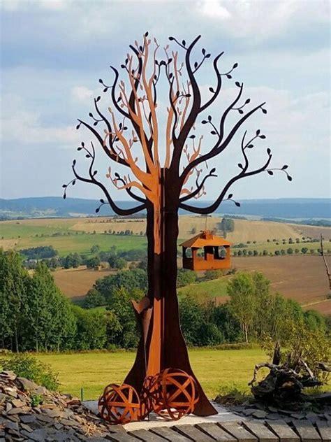 Gartendeko Holz Eisen by Gartendekoration Aus Metall Und Holz Metalldekoration