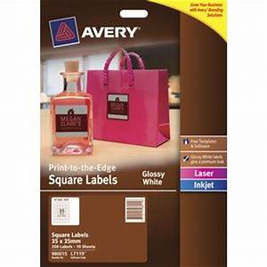 avery glossy white square product labels l7119 pk350 35 x With avery glossy white labels