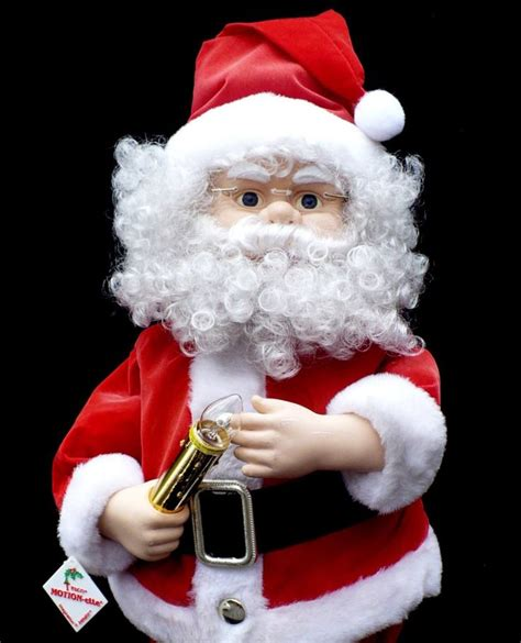 details about animated telco motionette santa claus with