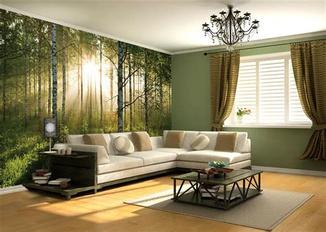 Sunlight Forest Mural Pr1855 |full Size Large Wall Murals