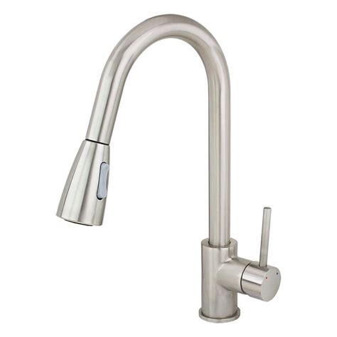 kitchen faucets with sprayer in kokols single handle pull down sprayer kitchen faucet in stainless steel 82h11 bn the home depot