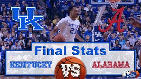 Kentucky vs. Alabama Final Stats | All Kentucky Sports