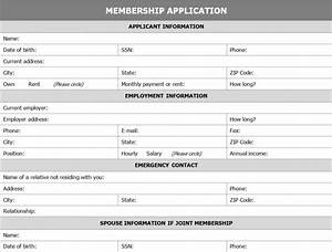 membership application form template template haven With membership form template doc