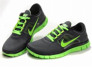Nike Free Run 3 Men Black Green Shoes Sale $66 90