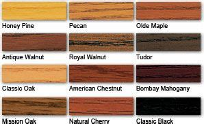 polyshades color chart minwax stains and stain colors on
