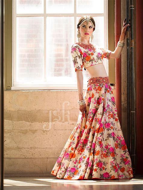 floral print lengha fashion photography jsk designer