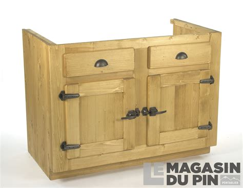 charnieres meubles cuisine meuble sous évier 2 portes pin massif pour cuisine avoriaz