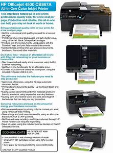 Hp Officejet 4500 Cb867a All