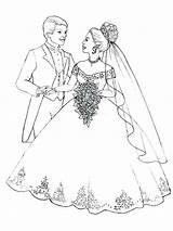 Coloring Couple Brides Bride Groom Flowers Veil Printable Getcolorings Prepare Throw Bouquet Flo Getdrawings Colorings sketch template