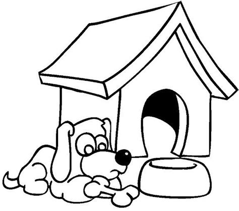 dog  dog house coloring page school house colouring pages coloring pages drawing images