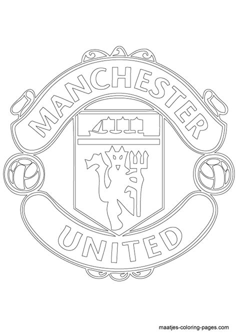 Kleurplaat Arsenal by Manchester United Soccer Club Logo Coloring Page Crafty