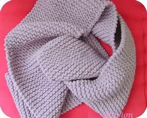 Echarpe Homme Tricot : modele tricot echarpe homme point mousse ~ Melissatoandfro.com Idées de Décoration