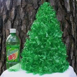 tree hugging christmas tree table l made from recycled plastic bottles navidad