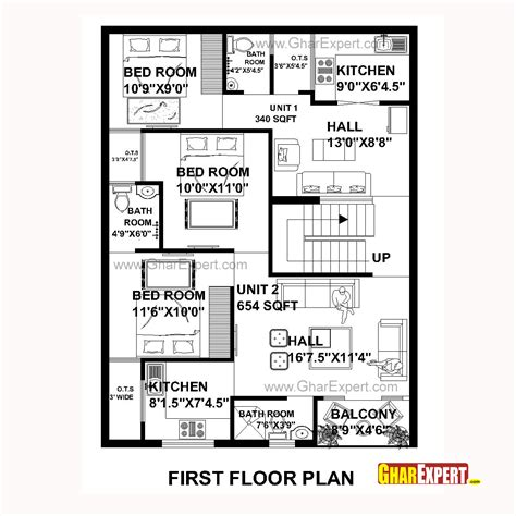 house construction plans house plan for 30 by 40 plot plot size 133