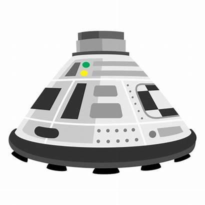 Space Capsule Icon Transparent Cartoon Svg Rocket