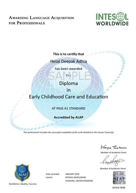 early childhood care  education diploma