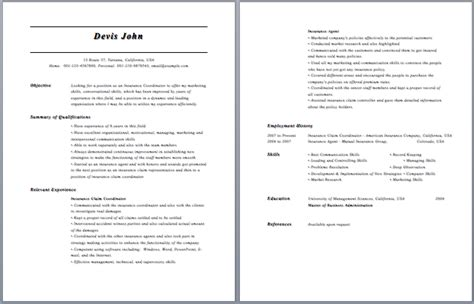 Office Specialist Resume Sles by The Best Health Insurance Specialist Resume Sle