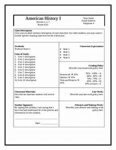 secondary grades syllabus template by teaforteacher tpt With curriculum template for teachers