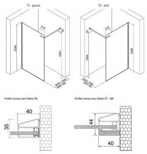 Dimension Receveur Italienne by Paroi De Douche Materia Fixe Italienne Verre Securite 6