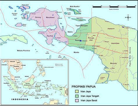 west papua maps