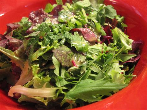 picture of green salad mixed green salad with an italian vinaigrette recipe dishmaps