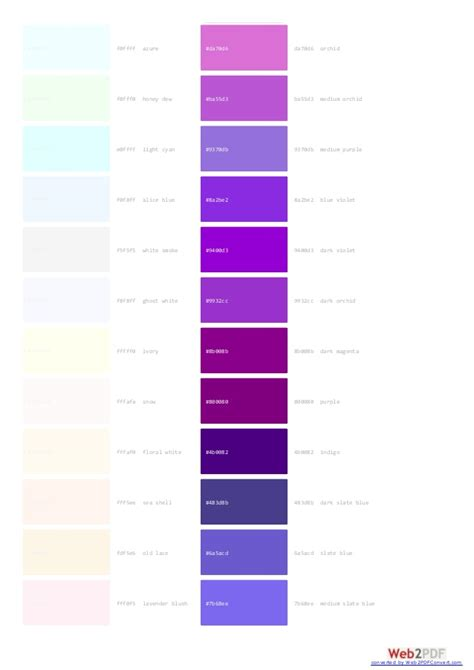 purple color code complete websafe colors code