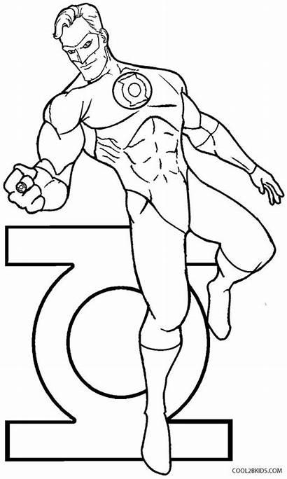 Lantern Coloring Pages Superhero Printable Goblin Cool2bkids