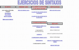 Ejercicios De Sintaxis Interactivos  Didactalia Material
