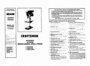 Craftsman Drill 113 213832 User Guide