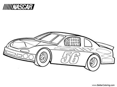 nascar coloring pages nascar coloring pages free printable coloring pages