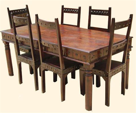 camelot mahogany 7pc dining table and chair set