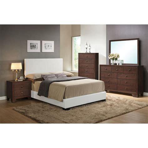 acme furniture ireland white eastern king upholstered bed