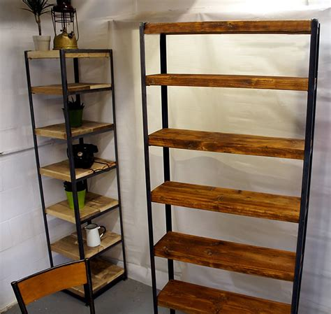 Metal Frame Bookcase by Tall Vintage Industrial Shelves