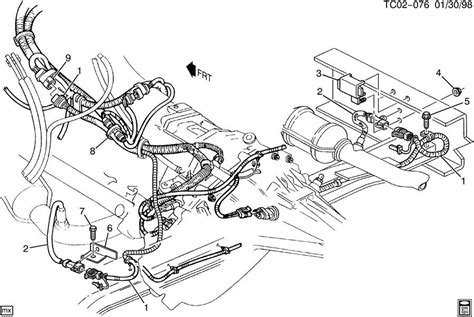 2000 Chevy Tahoe Transmission Diagram by Wiring Harness Oxygen Sensors Heat Shields