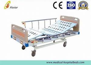 2 Crank Durable Ward Bed Medical Hospital Beds Aluminum